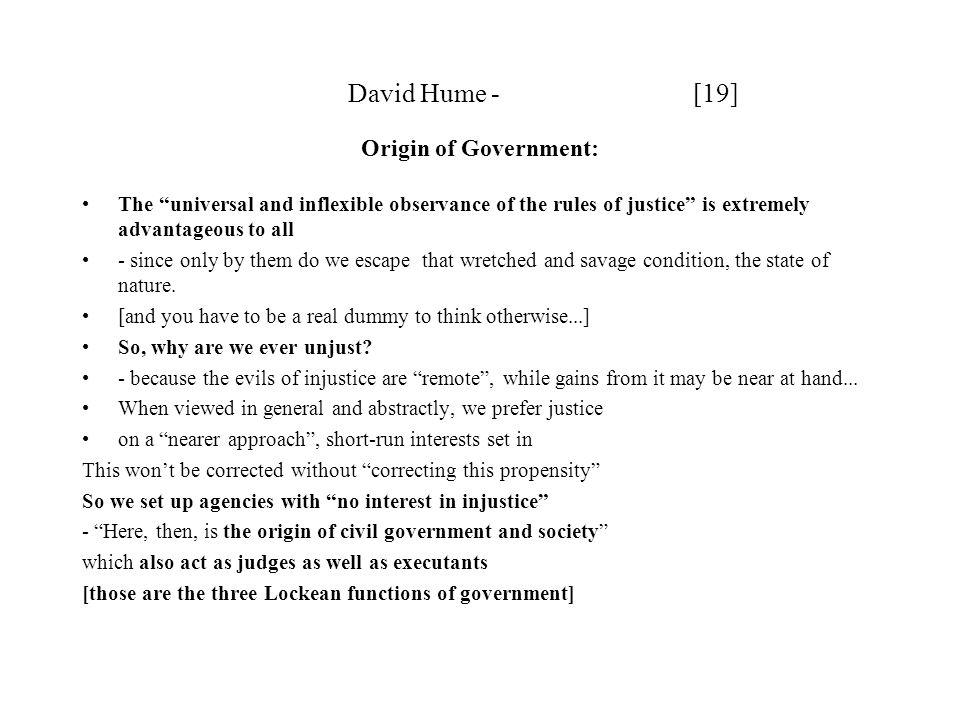 David Hume - [19] Origin of Government: